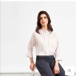 NWOT Everlane Linen Oversized Collarless Shirt